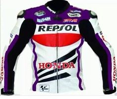 honda repsol moto chaqueta de cuero purpura - Categoria: Avisos Clasificados Gratis  Estado del Producto: New with tagsTop Grain Milled Cowhide 12mm Thick Leather5Piece Internal CE Protection at Back, Elbows, ShouldersInner Fixed Mesh LiningAdjustable Valcro Strap at BottomSpeed Hump 25 EXTRAProcessing time required to make the jacket according to the given size is 4 to 5 working daysValor: USD180,00Ver Producto