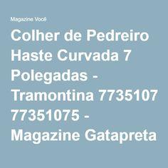 Colher de Pedreiro Haste Curvada 7 Polegadas - Tramontina 77351075 - Magazine Gatapreta