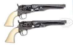 Union General James B. McPherson's Pair of Engraved Colt Police Model 1862 Revolvers