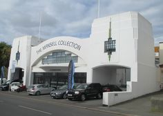 A beautiful example of an art deco garage on Jersey, now a car showroom with the Mansell Museum  above, July 2016.