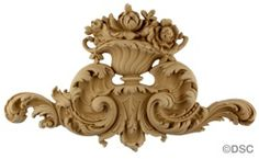 Decorators Supply Item 9476: Floral Basket - Rococo -Louis XV 9H X 15 1/4W - 1 1/4Relief