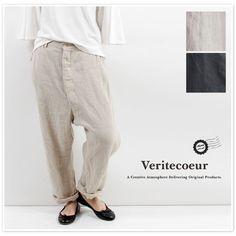 【Veritecoeur ヴェリテクール】ベルギー リネン パンツ (vc1494)
