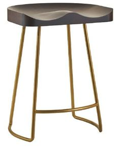 Amish Decker Counter Stool Perfectly scooped seat for comfort! Steel base comes in 15 different colors.