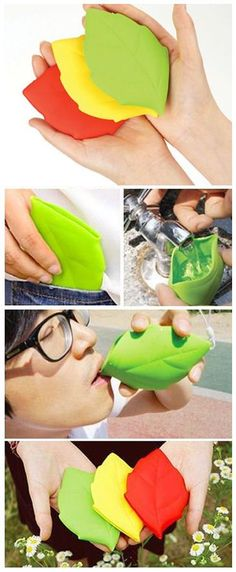 Silicone Portable Leaf Cup // #sports #fitness #camping