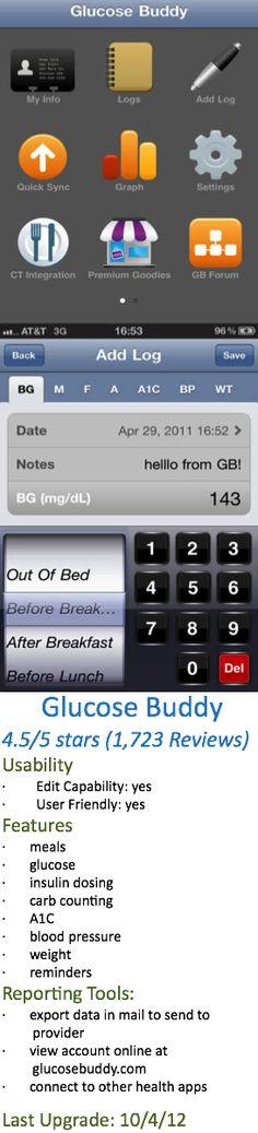 Glucose Buddy for iPhone #glucosebuddy #iphone #diabetesapps