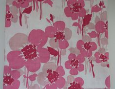 Pink Floral Twin Flat by Lady Pepperell - Flower Power - Big Bold Flowers - NOS