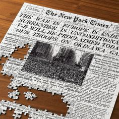 The Select-A-Date New York Times Jigsaw Puzzle. :D