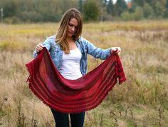 sunlit shawl - sweet fiber yarns - bc, canada