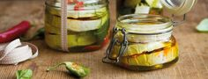 Nakládané sýry Pickles, Feta, Cucumber, Healthy Eating, Homemade, Yum Yum, Red Peppers, Eating Healthy, Healthy Nutrition