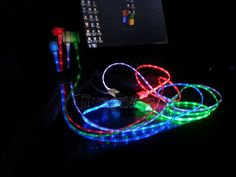 Sync Data through a USB Port of your Computer/PC/Laptop with this unique Led cable. with LED lights in full cables, when charging or sync data, you will see Led Light Lights up, very beautiful and cool. Pc Computer, Samsung Galaxy S4, Cable, Smartphone, Glow, Android, Usb, Cord, Crystals
