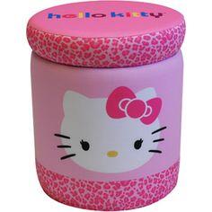 Hello Kitty Bows Storage Ottoman