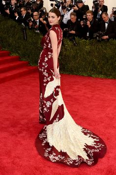 Bee Shaffer, in Alexander McQueen.