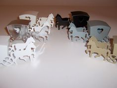 HORSE   CARRIAGE favour boxes in White- Mirror Silver - Ivory- Pink -Gold-  Black 1ff8af5ef