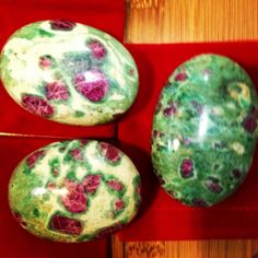 Ruby in fuchsite pocket stone for for the heart chakra. It allows to use the gifts of the mind while guided by the heart. Brings us contentment and peace. Also a good stone for Sunday. $42.00/ each. #ruby #fuchsite #heart #chakra #stpete #crystals  http://yogaenergy.me/ytt/