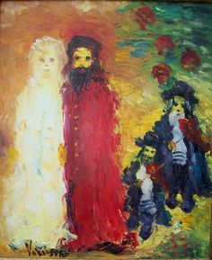Jewish wedding painting by Aharon Yakobson ( next trip I'm going to his gallery. I love the usage of his vibrant colors he clearly displays inmost of his paintings)