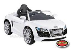 Audi R8 Spyder in pearl white! http://www.hongkongtoyclub.com/premium-ride-on-vehicles