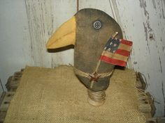 Charlie Crow's  Flag Primitive Dolls Rustic by YorkiesPrimitives, $15.95 (SOLD)