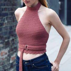Crochet Top Summer Free Bikini Pattern Ideas For 2019 Crochet Halter Tops, Crochet Summer Tops, Crochet Bikini Top, Crochet Blouse, Diy Crochet Crop Top, Crochet Bra, Motif Bikini, Bikini Pattern, Crochet Clothes