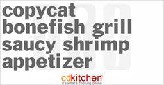 Bonefish Grill Saucy Shrimp Appetizer - CDKitchen.com