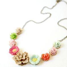 Posy Flower Necklace. $48.00, via Etsy.