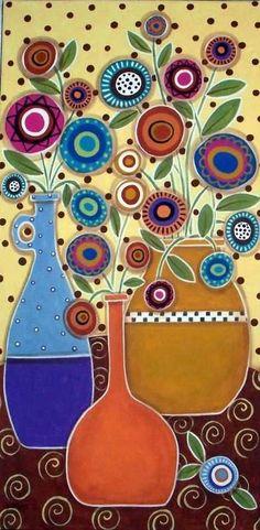 Недавно я разгуливала по просторам интернета в поисках вдохновения и неожиданно наткнулась на подборку невероятно красочных и самобытных картин. Так я обнаружила для себя потрясающую художницу, Карлу Жерар. Карла начала рисовать еще в юности, поначалу только для себя и близких людей. Сейчас она продает свои уникальные работы на различных торговых площадках по всему миру.