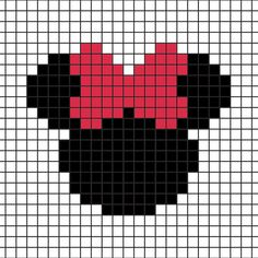 DIY: Mickey-Minnie Coasters in Hama Beads (+ grid Knitting Charts, Knitting Patterns, Intarsia Knitting, Intarsia Patterns, Loom Patterns, Free Knitting, Cross Stitch Designs, Cross Stitch Patterns, Cross Stitching