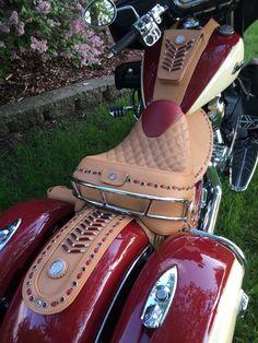 Reupholstery vintage motorcycle