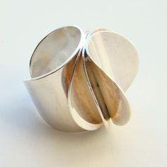 Tone Vigeland Modernist Ring Sterling Silver Norway Plus Size 6.25 ND Bag N. $285.00, via Etsy.