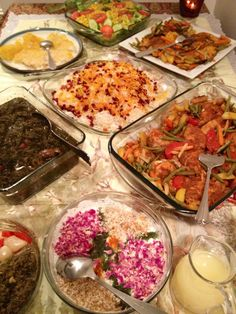 My yummy Persian Dinner Table.