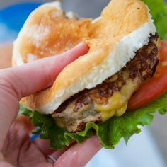 The Juiciest Turkey Burger Recipe Main Dishes, Lunch and Snacks with lean ground turkey, large eggs, salt, pepper, dried parsley, poultry seasoning, cold milk, butter, american cheese slices, lettuce, tomatoes, onions, burger toppings, pickles, sesame seeds buns