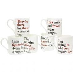 Grammar Grumble Mugs Set