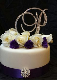 5 Inch Tall Monogram Wedding Cake Topper - Elegant ...
