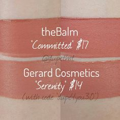 Dupethat: theBalm Committed Dupes