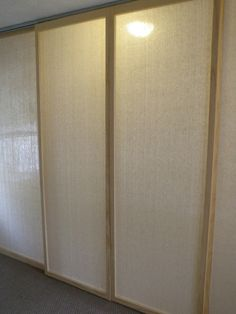 Stretched And Sandwiched Muslin Between Frames Built Of 2x2s They Re Slightly Shorter Than Grotto Pooldiy Sliding Doorcupboard