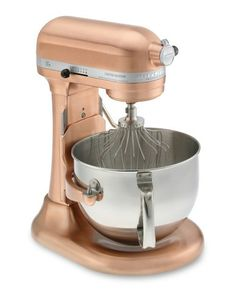 KitchenAid Professional 620 Stand Mixer, Satin Copper. Redesigned to exceed the expectations of serious home bakers, this powerful ten-speed stand mixer is clad in your choice of nickel or copper and engineered to handle commercial-size batches of batter and dough. We already have one but I want another one in this style.  $899.95