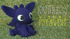 Instructions for assembling a Toothless amigurumi. They complement a pattern linked to in the post.