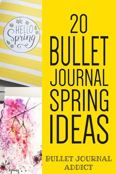 Spring Bullet Journal Inspiration and Ideas - Monthly Spreads, Cover Pages, and Layouts For Spring - Bullet Journal Spring Theme Ideas #bulletjournal #bulletjournalspreads #bujolove #bulletjournallayouts #springspreads #bujospreads #bujolayouts