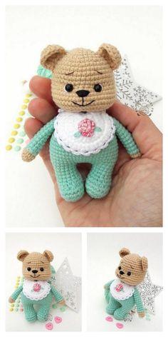 Crochet Doll Tutorial, Crochet Doll Pattern, Crochet Patterns Amigurumi, Amigurumi Doll, Crochet Dolls, Crochet Animal Patterns, Stuffed Animal Patterns, Doll Patterns, Crochet Teddy