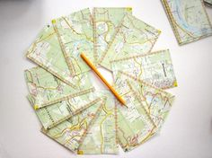 10 Tüten 10 x 13cm   Landkarte