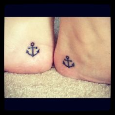 Matching tattoo with my sister. Remember family is our anchor