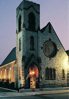 Freemason Abbey Restaurant, Norfolk, Virginia. Located in a renovated 141 year old church.