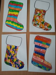 Parents paint the shoe and the children design it themselves. Parents paint the shoe and the children design it themselves. Winter Crafts For Toddlers, Christmas Crafts For Kids, Christmas Activities, Toddler Crafts, Kids Christmas, Handmade Christmas, Candy Cane Crafts, Kindergarten Themes, Theme Noel