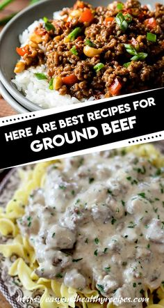 30 Go-To Ground Beef Recipes - Beef Recipes - Easy Ground Casserole Recipes, Meat Recipes, Cooking Recipes, Steak Casserole, Hamburger Recipes, Quick Recipes, Ground Beef Recipes For Dinner, Dinner Recipes, Dinner Dishes