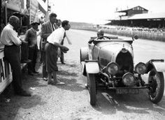 Bugatti in pits at 1930 Le Mans 24 hour race, Marguerite Mareuse, Odette Siko