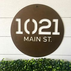This Circle Address Sign looks great customized for your home! House Address, Address Plaque, Address Signs, Anchor Signs, Name Wall Decor, Nautical Signs, Custom Metal Signs, Outdoor Signs, Metal Homes