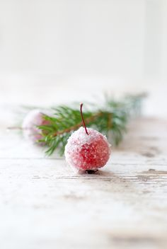 Sugared Cherries