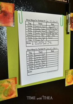 Simplify Deciding What To Make For Dinner With This Menu Planning Idea