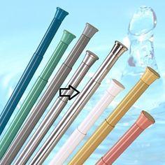 Buy 2 for middle room - New Telescopic Extendable Shower Curtain Rod Rail - 70cm - 110cm - Spring Loaded (Chrome)