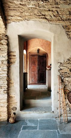 The ground floor of Karl Fournier and Olivier Marty's home in Corsica.