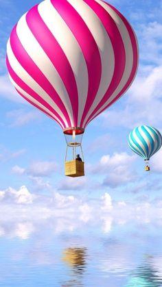 Vehicles/Hot Air Balloon Wallpaper ID: 595617 - Mobile Abyss View Wallpaper, Travel Wallpaper, Air Balloon Rides, Hot Air Balloon, Balloons Photography, Balloon Painting, Air Ballon, Beautiful Gif, Painting Patterns